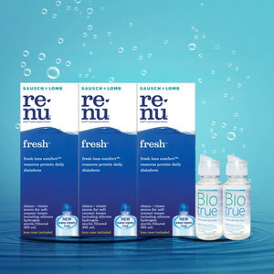 Renu Fresh MultiPurpose Solution 355ml Triple Pack + Biotrue Multi-Purpose Solution 60ML x2