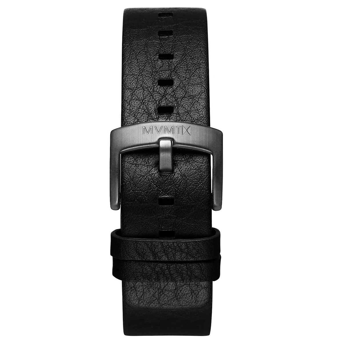 BLACKTOP - 24MM BLACK LEATHER - SILVER