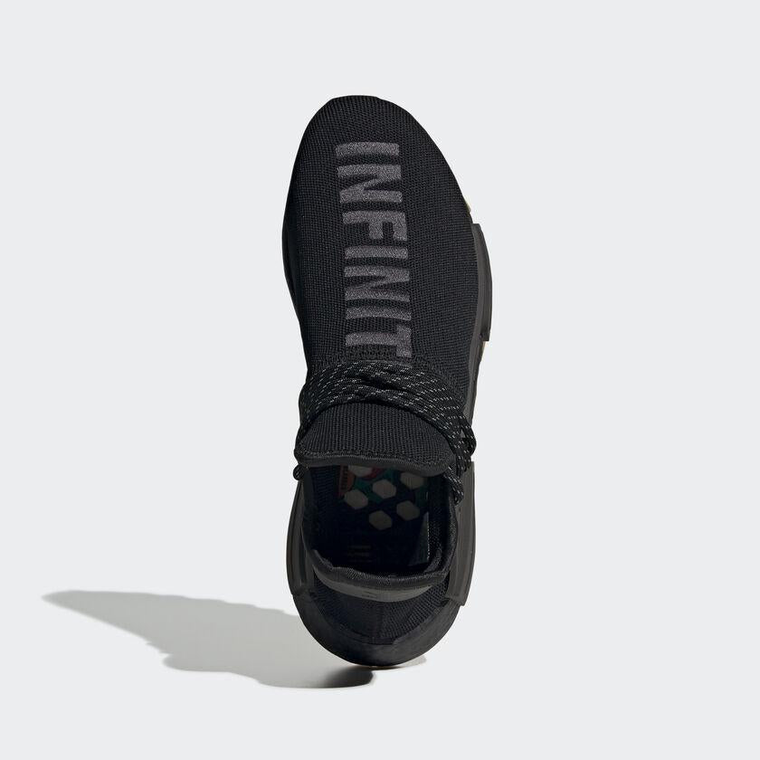 PHARRELL WILLIAMS HU NMD PROUD SHOES – Black