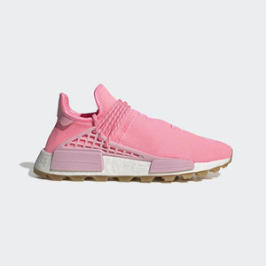 PHARRELL WILLIAMS HU NMD PROUD SHOES – Pink