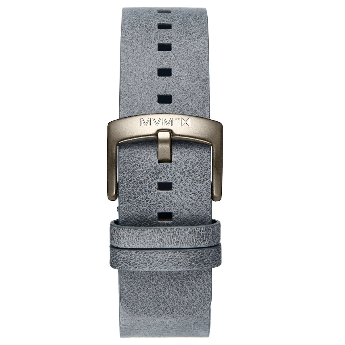 BLACKTOP - 24MM GREY LEATHER - GUNMETAL