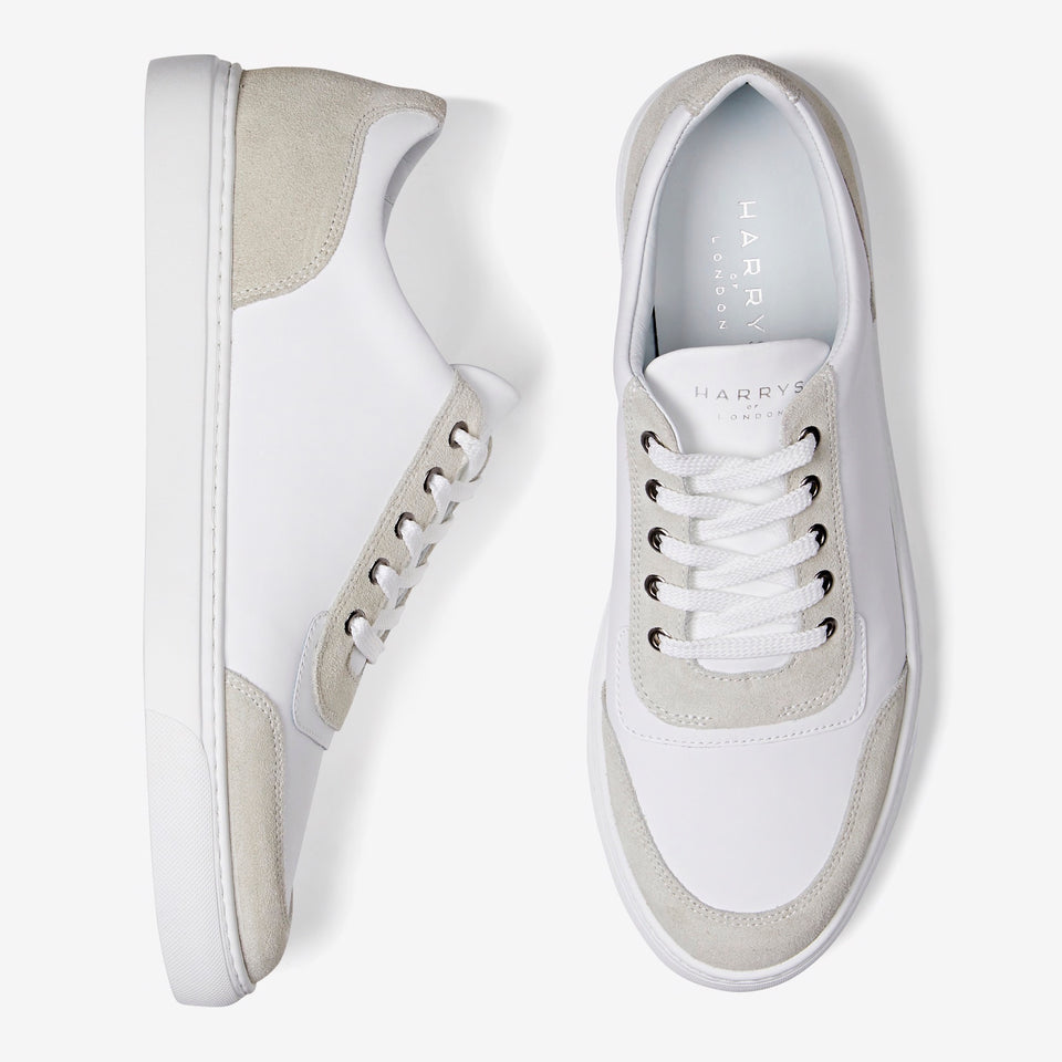 Nimble Tech Leather/Suede White