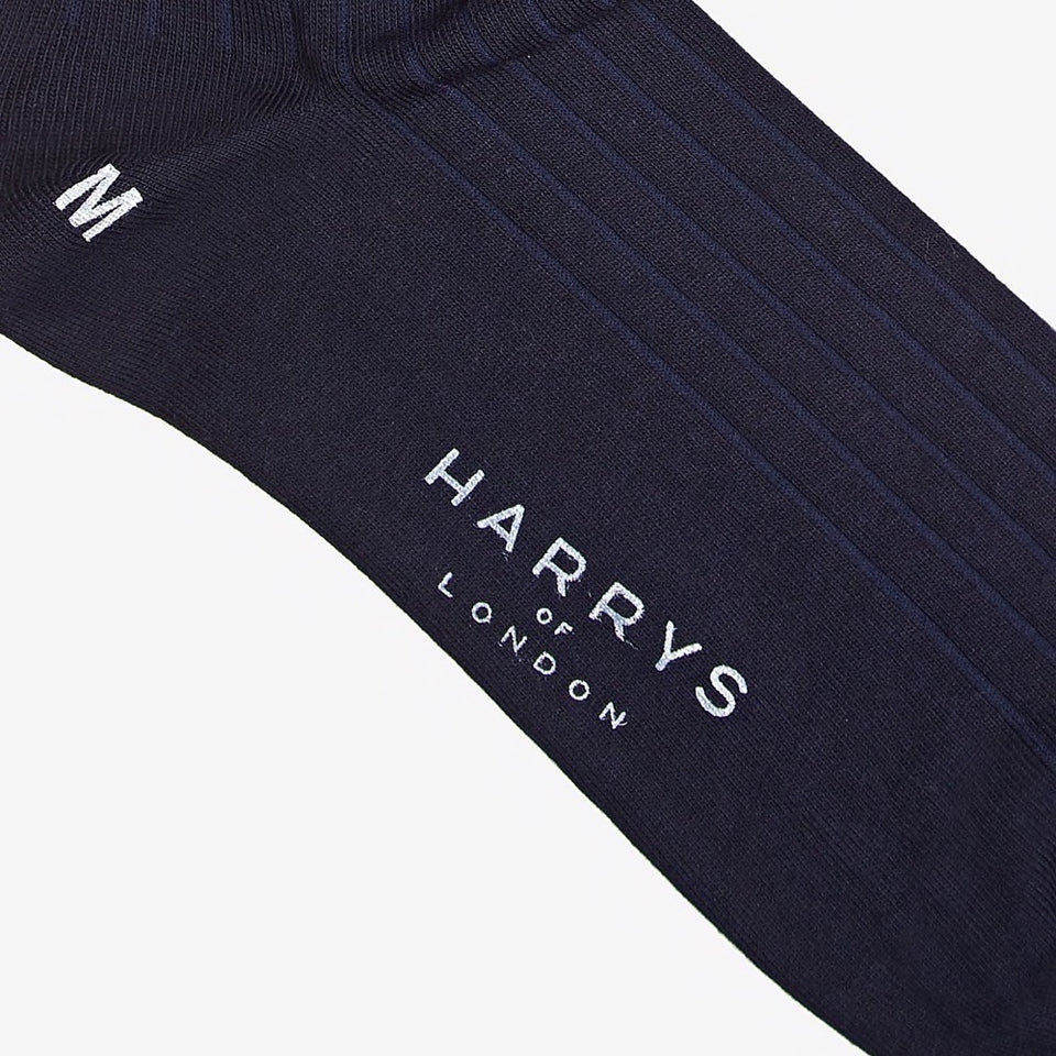 Ribbed Sock Cotton Navy