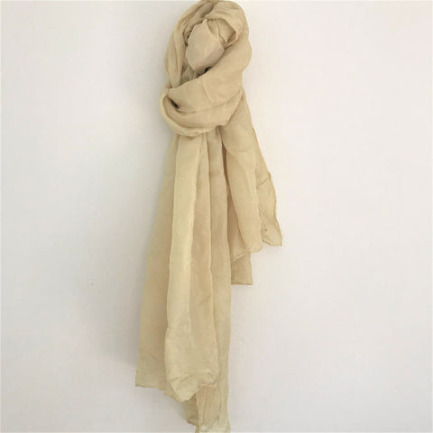 Rosemary dyed Silk Scarf