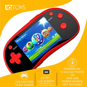 "Handheld Portable Digital Screen 220 Preloaded Games , 3"" Color Display"