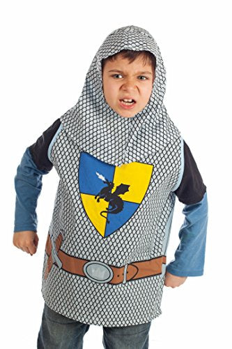 Set of 5 Dress Up Boys and Girls Costumes 1 Car Racing 2 Knight 3 Cowboy 4 Worker 5 Pirate for Kids