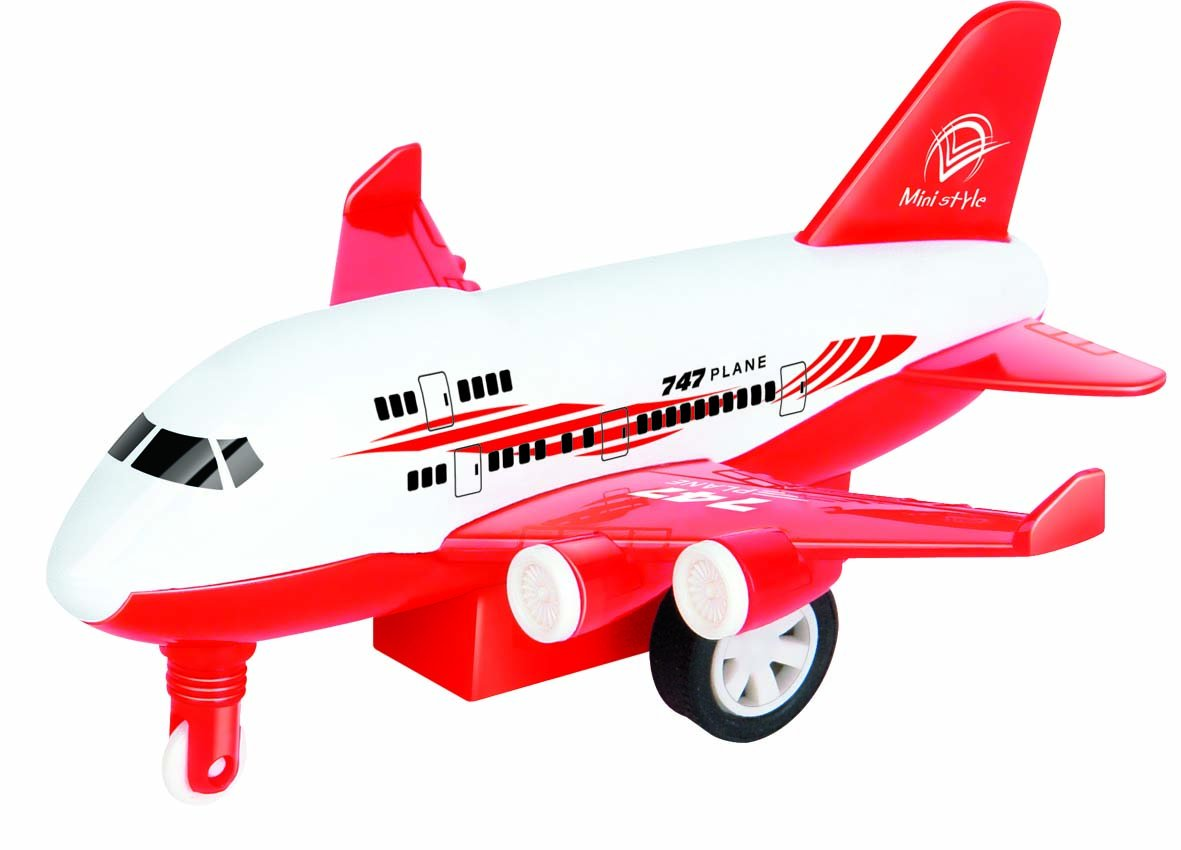 Set of 4 Die Cast Pull Back Action Airplanes 4 Different Colors