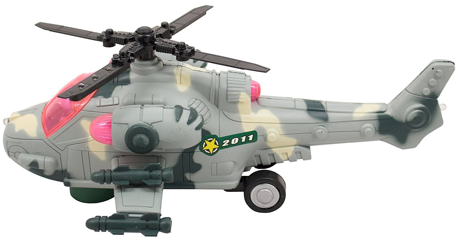 Bump N Go APACHE Military Helicopter With Lights & Sounds
