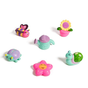 Set of 6 super soft bath toy Garden set