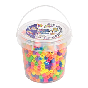 Jar of 1000 MAXI ironing beads Glow in the dark colors