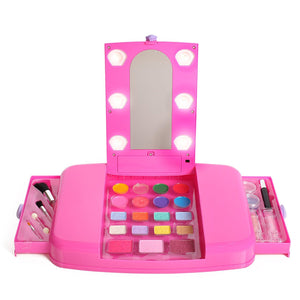 Little Fairy Princess Beauty Star Lit Up Vanity Cosmetic Set With Mirror