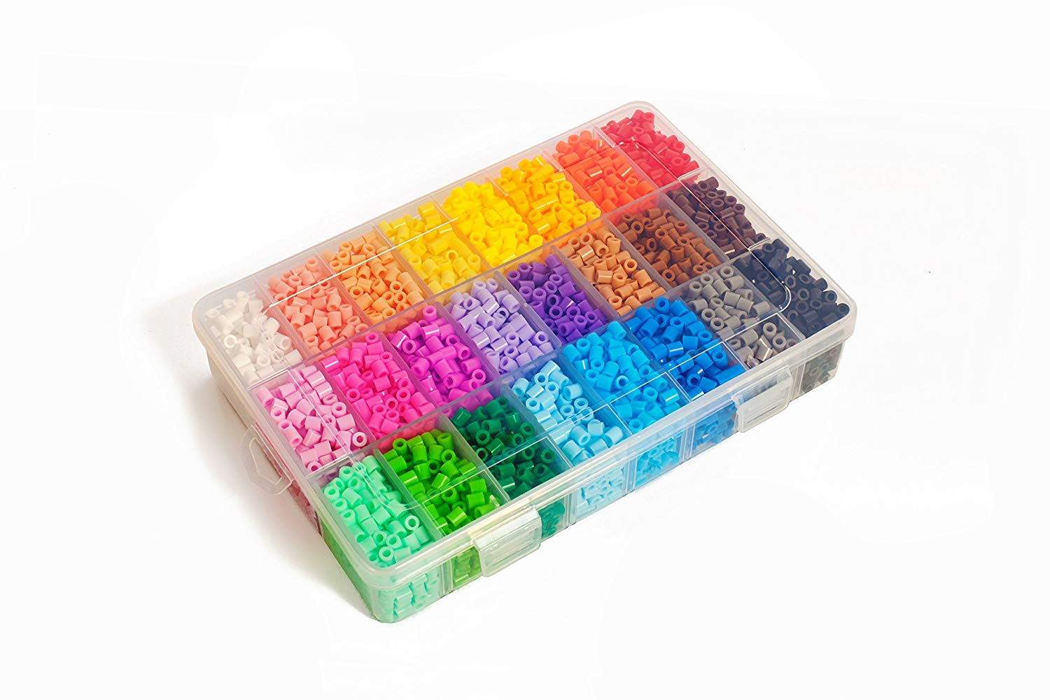 IQ Toys Ironing Beads 5,000 Pieces 24 in a Tray Organizer