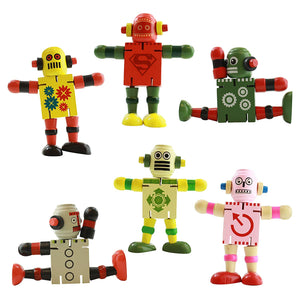 IQ Toys Wooden Fidget Puzzle Figures, Set of 6