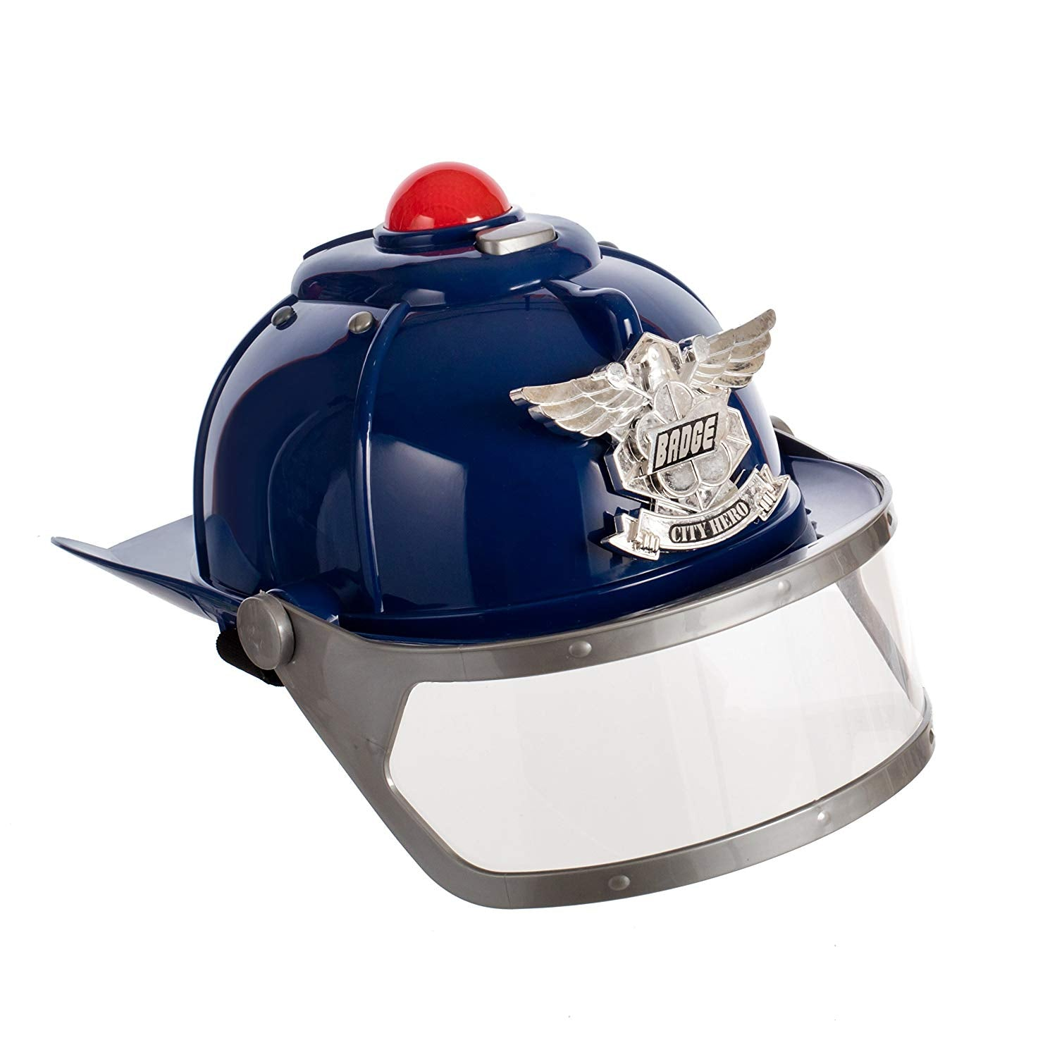The city of heroes Police Helmet with lights and sirens