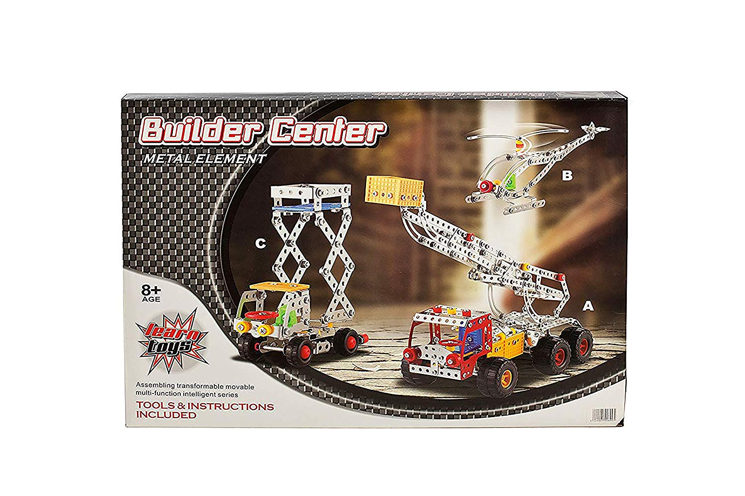IQ Toys 3 Vehicle Metal Construction Set, Construction Models with Metal Beams and Screws 691 Pieces