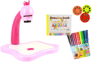 IQ Toys Drawing Projector with 24 Full Color Sketches, 12 Washable Marker & Drawing Pad