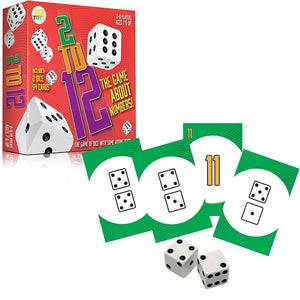 2 To 12 Math Dice Adding Card Game For Kids and Adult - 54 Cards & 2 XL Dice