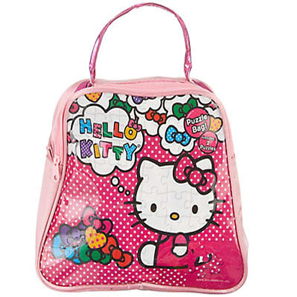 Hello Kitty Carry and Go Puzzle Bag, with 2 100 Piece Puzzles