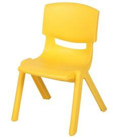 Blue Plastic Stackable School Chair with 12-Inch Seat Height - Toys 2 Discover - 5