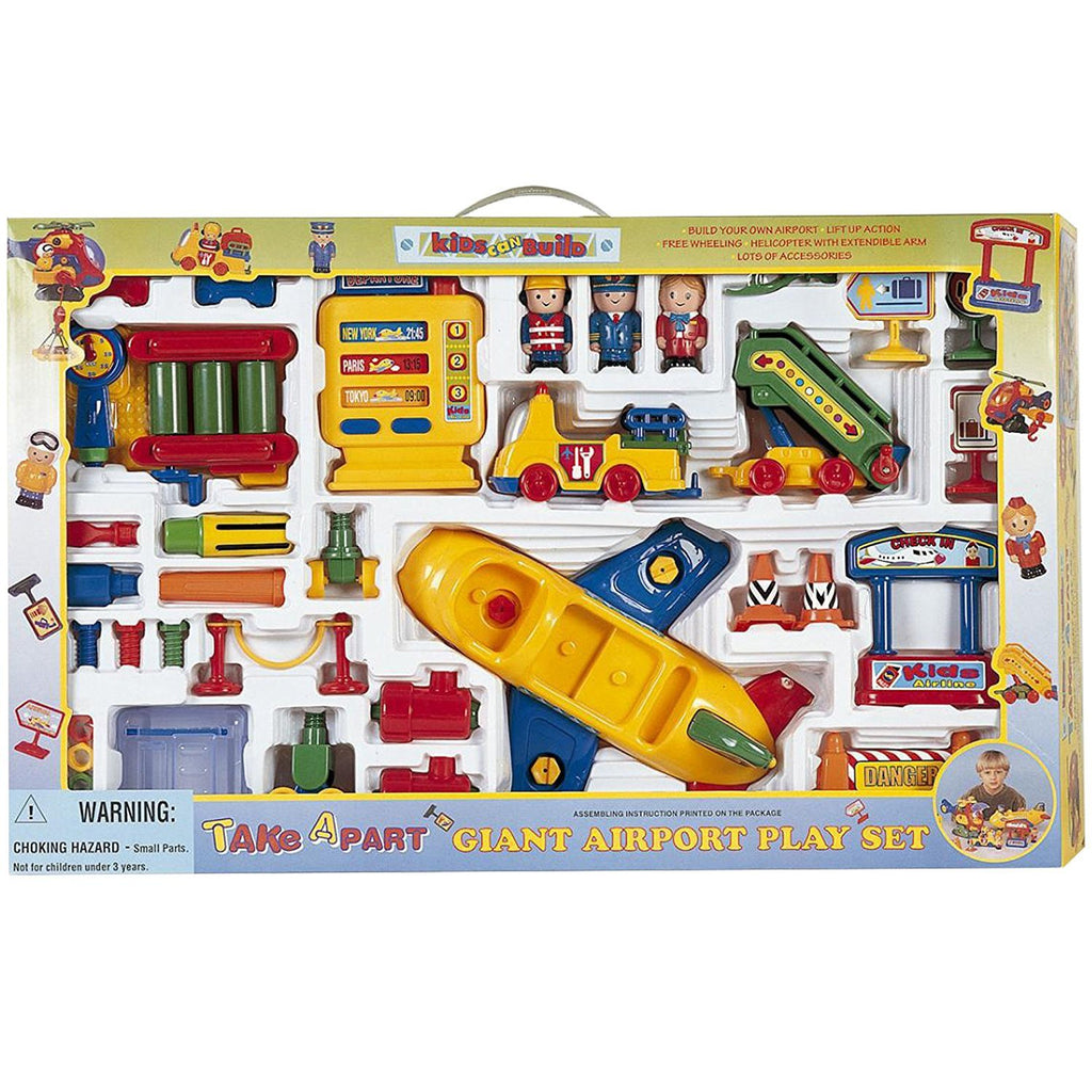 Giant Airport Build And Take Apart Airplane Set