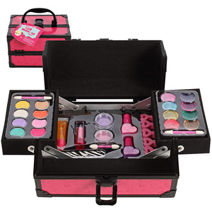 IQ Toys Girls Makeup Set, with Two Tiered Long Lasting Case