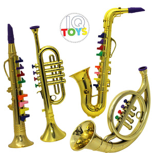 IQ Toys Set of 4 Music 1. Clarinet 2. Saxophone 3. Trumpet, 4. Horn Combo