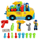Multifunctional Take Apart Toy Tool Truck with Tools and Electric Drill