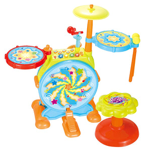 My First Drum Set, Includes Sing Along Microphone and Chair