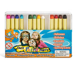 IQ Toys 12 Color Face Paint Safe and Non Toxic Crayons, Halloween Party Pack