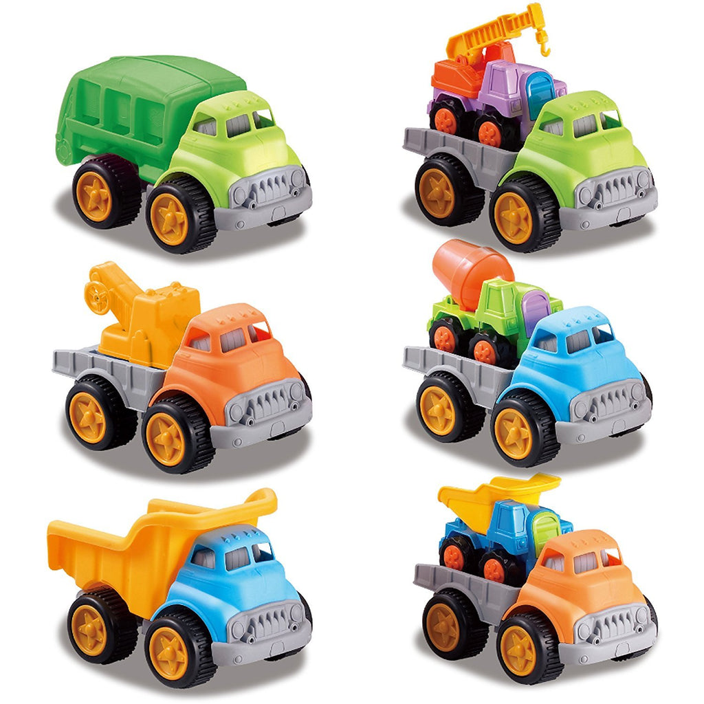 9 City Contruction Vehicles Includes 3 Heavy Haulers, 2 Dump Trucks, 2 Tow Trucks, Recycling Truck and Cement Truck