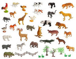 ZOO SET Wild, Jungle, Farm & Desert Animals, 30 Pieces, Storage Bin - Toys 2 Discover - 1