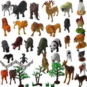 ZOO SET Wild, Jungle, Farm & Desert Animals, 30 Pieces, Storage Bin - Toys 2 Discover - 2