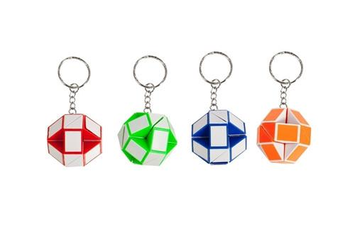 IQ Toys, Snake & Twist Keychains, Party Favors, 6 pieces - Toys 2 Discover