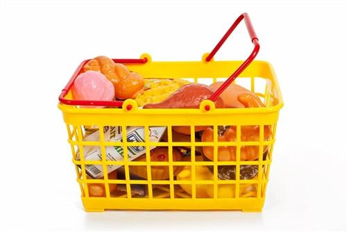Shopping Basket, Play Food, 32 pieces - Toys 2 Discover - 2