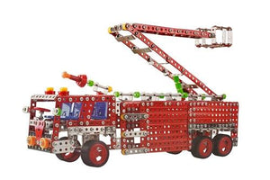 IQ Toys, Fire Truck, Building Metal Model, Lights & Music 842 pcs - Toys 2 Discover