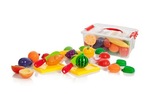 Cutting Food Playset for Kids, 35 Pieces, Ages 3+ - Toys 2 Discover - 1