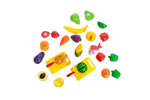 Cutting Food Playset for Kids, 35 Pieces, Ages 3+ - Toys 2 Discover - 2