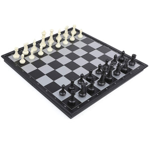 "IQ Toys Huge Foldable 18""x18"" Table Size Magnetic Chess with Magnetic Playing Pieces"