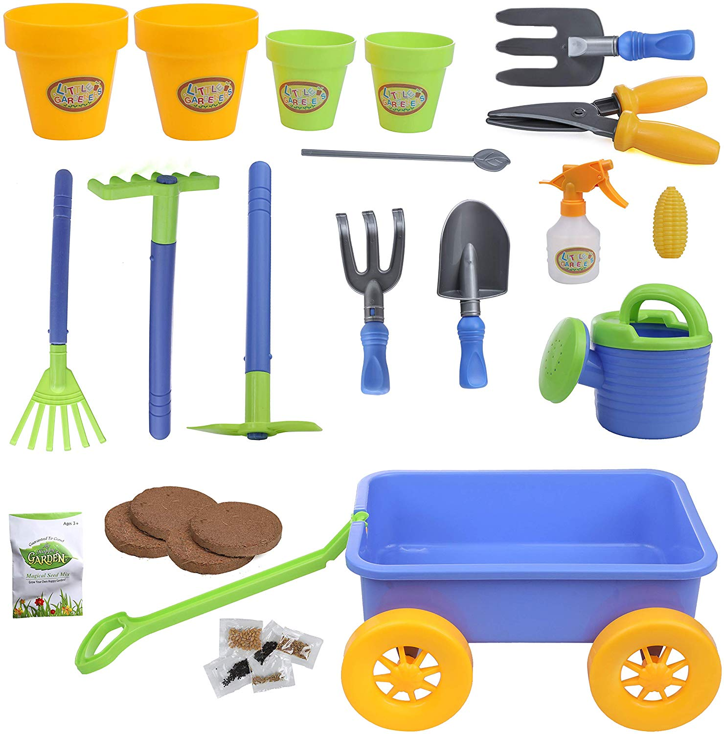 My first Little Gardening Tool Box 16 pc's Toy Gardening Tools Set for Kids