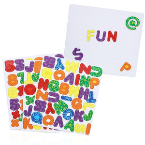 IQ Toys Magnetic Letters, Numbers and Symbols- with Magnetic Board