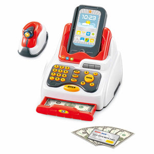 IQ Toys Touch Screen Register with Realistic Sounds & 34 Money and Food Accessories