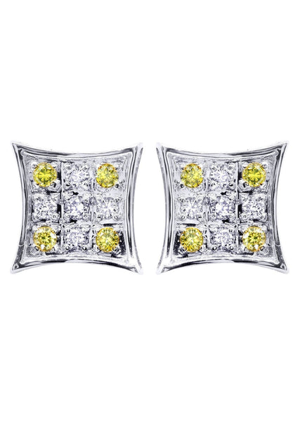 Diamond Earrings For Men | 0.22 Carats 14K White Gold