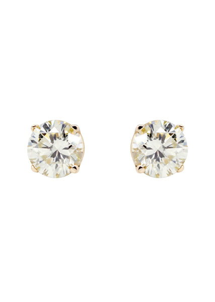 Round Diamond Stud Earrings | 0.26 Carats