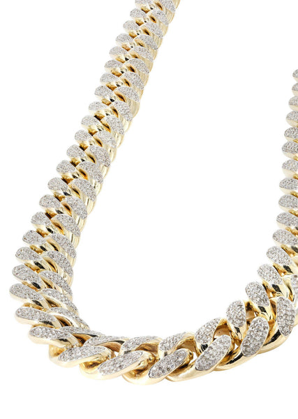 Catena a maglie a cubetti di diamanti Iced Out | 34 carati | 760 grammi | 20 mm | 32 pollici