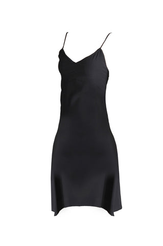 Knee lenght spaghetti straps litlle black dress - Leyla - Noel of Me