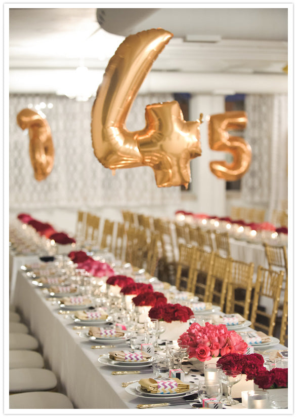 Big Number Balloon Table Number Ideas