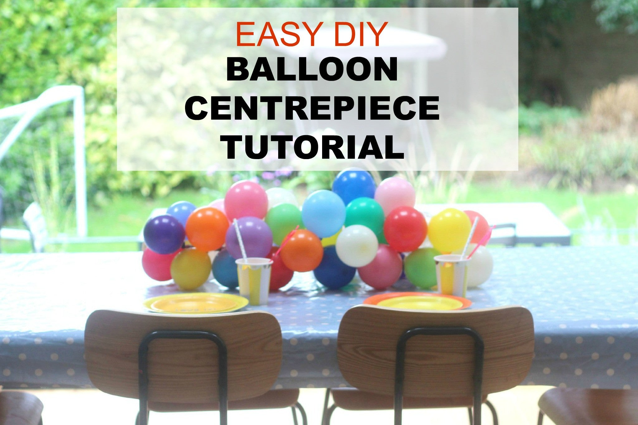 Balloon Party Centrepiece Tutorial