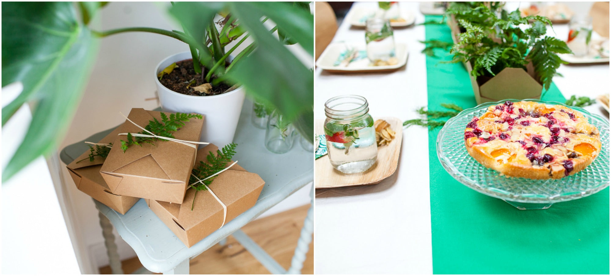 Pretty Green Botanical Party Ideas