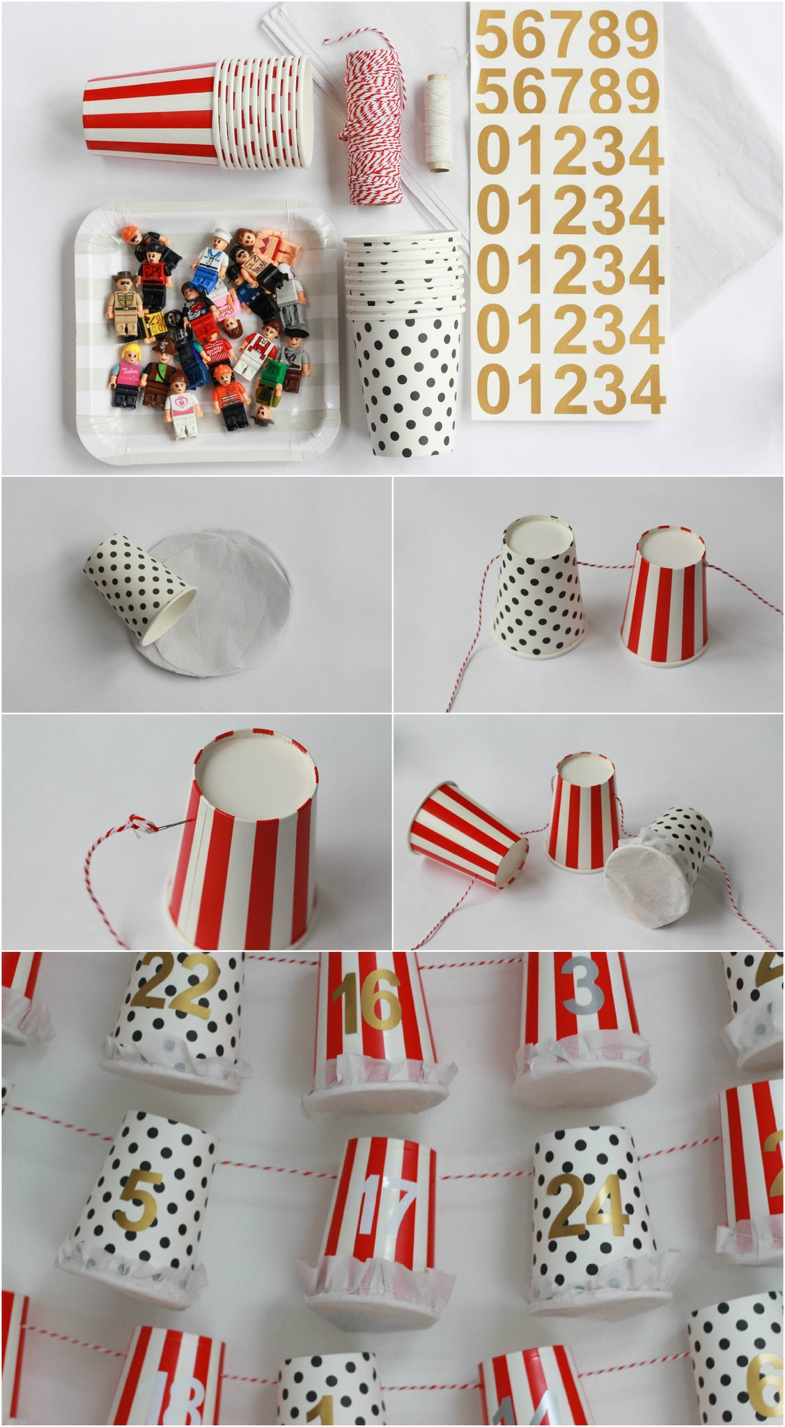 Easy Advent Calendar Tutorial Paper Cup Calendar