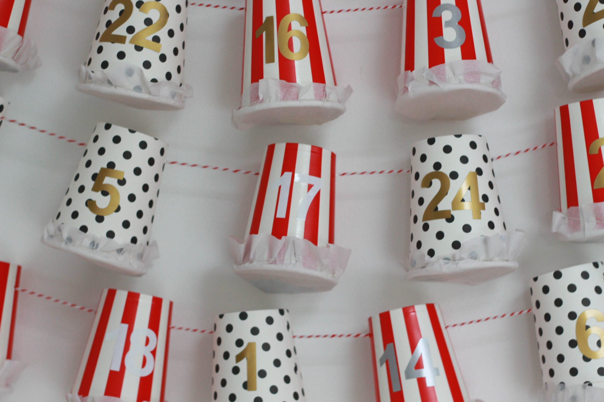 Paper Cup Advent Calendar DIY